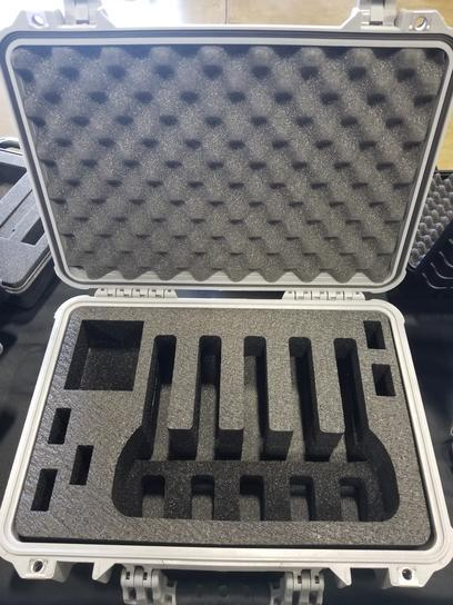 Pelican Case 1500 Range Case Foam Insert for 5 Handguns and Magazines (FOAM ONLY)-Cobra Foam Inserts and Cases