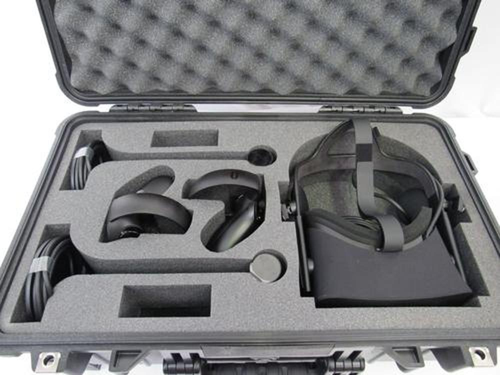 Pelican Case 1510 With Custom Foam Insert For Oculus Rift (2 Sensors) - Carry-On With Wheels-Cobra Foam Inserts-Cobra Foam Inserts