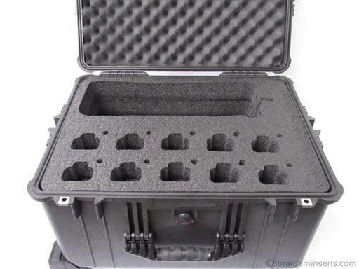 Pelican Case 1600 Custom Foam Insert for Motorola CP200 Walkie Talkie Radio-Cobra Foam Inserts-Cobra Foam Inserts