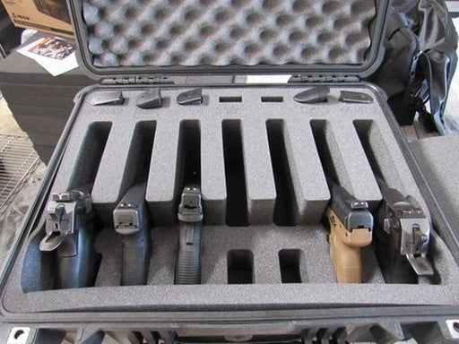 Pelican Case 1550 Range Case for 7 Handguns and Magazines with Custom Engraving (FOAM ONLY)-Cobra Foam Inserts-Cobra Foam Inserts