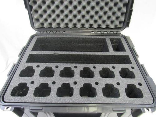 Pelican Case 1600 Custom Foam Insert for Motorola CP200 Walkie Talkie Radio and batteries-Cobra Foam Inserts-Cobra Foam Inserts