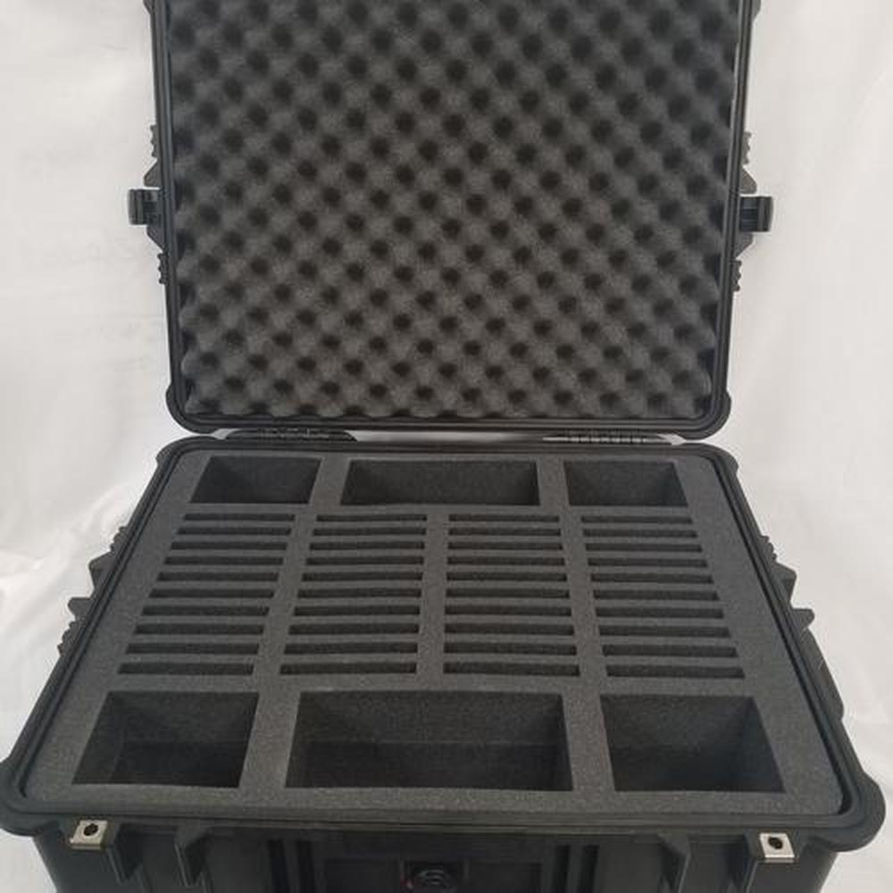 Pelican Case 1610 with Foam Insert for 40 tablets and Accessories (CASE & FOAM)-Pelican-Cobra Foam Inserts