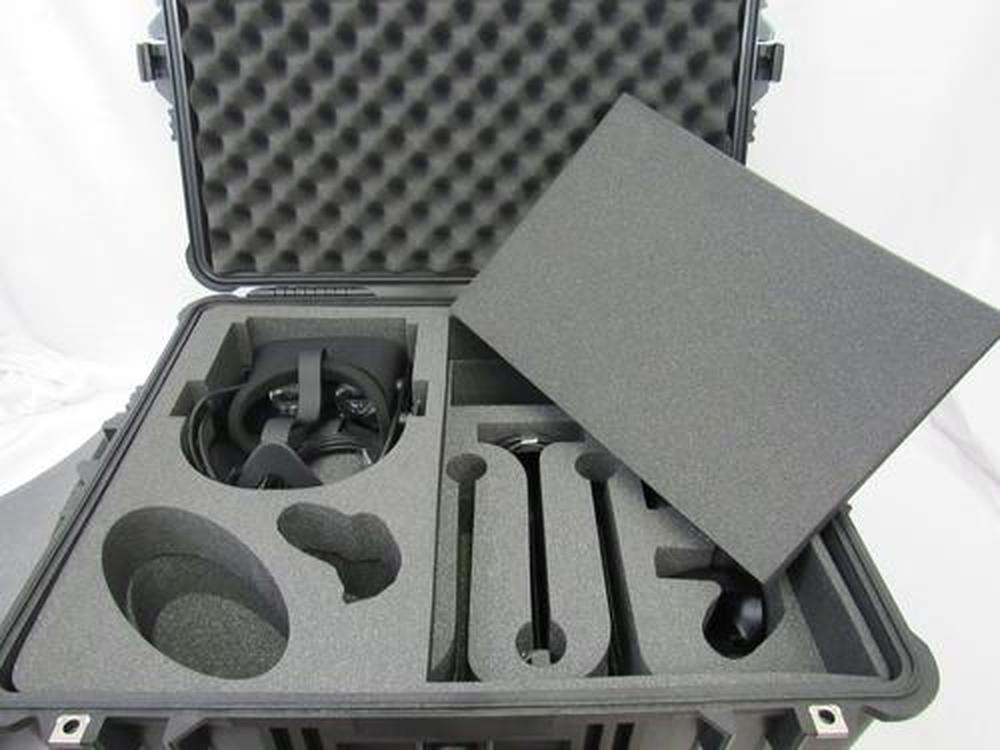Pelican Case 1610 with Foam Insert for Oculus Rift VR System (CASE & FOAM)-Pelican-Cobra Foam Inserts