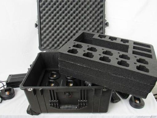 Precut - Pelican Case 1620 With Foam Insert For Motorola CP200 Walkie Talkie Radio And Charger