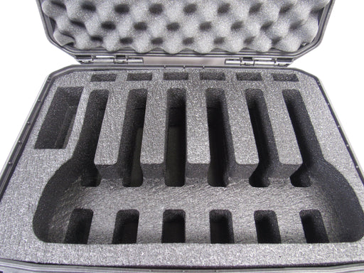 Pelican Vault Case V300 Range Case Foam Insert For 6 Handguns and Magazines (POLYETHYLENE FOAM)-Cobra Foam Inserts and Cases