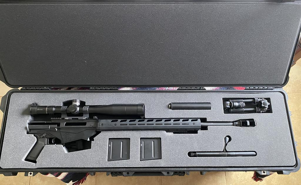Pelican Case 1750 Foam Insert for Ruger Precision Rifle Folded .338 Magnum (Foam ONLY)