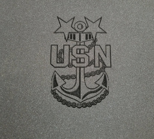 United States Navy Master Chief Insignia Engraving-Cobra Foam Inserts and Cases