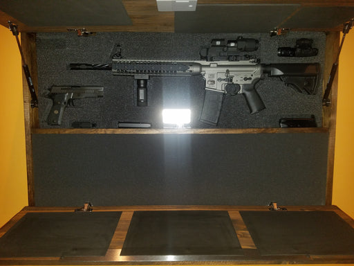 Wall Cabinet Foam Insert for Rifle and Handgun