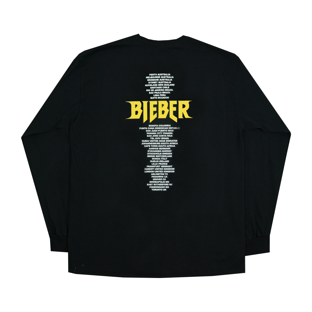 Bieber Long Sleeve T Shirt Purpose Tour Merchandise