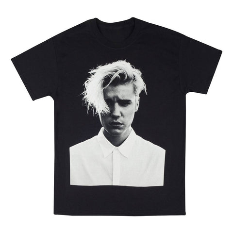 Purpose tour merchandise for Justin bieber black and white shirt