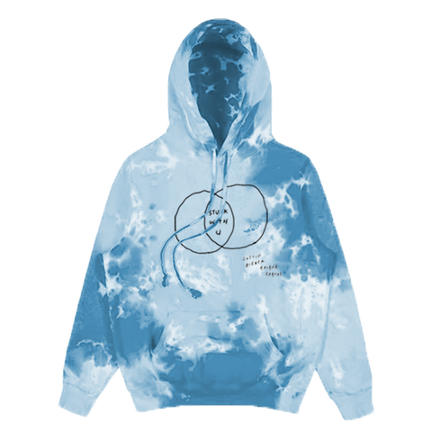 Stuck with U Venn Diagram Tie Dye Hoodie