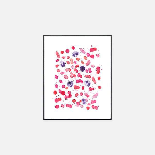 Blood Cell Watercolor Laboratory Wall Art