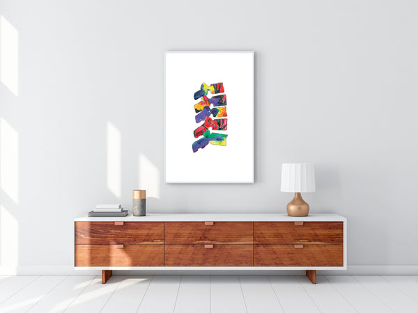 Vertebrae Spine Anatomy Art Print