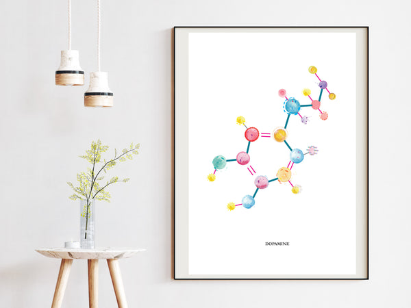 Dopamine Art Print, Neurotransmitter Art Print