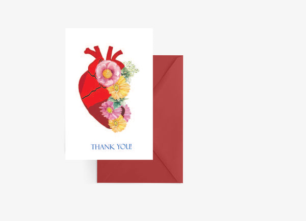 Heart Cardiologist Thank You Card