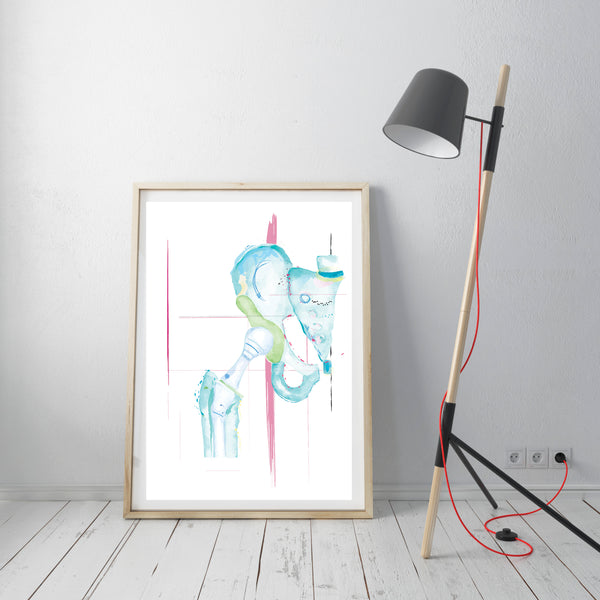 hip anatomy art