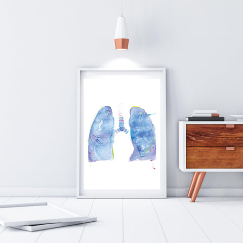 abstract lung anatomy art