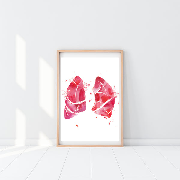 lung anatomy art