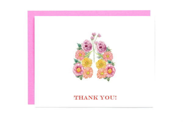lung thank you card