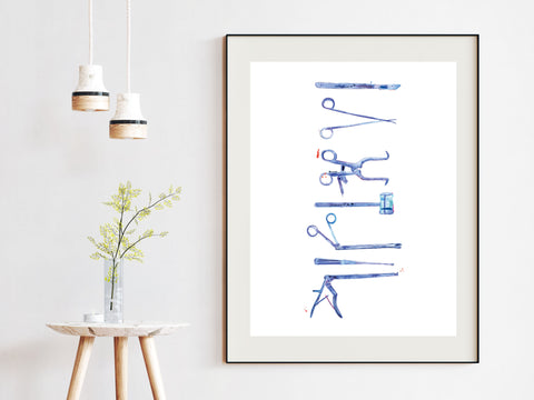 Spine Surgery Instruments Art Print