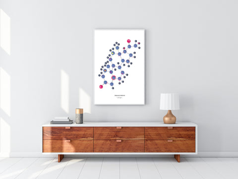 Progesterone Art, Gynecology Art, Fertility Art Print, Female Hormone Art