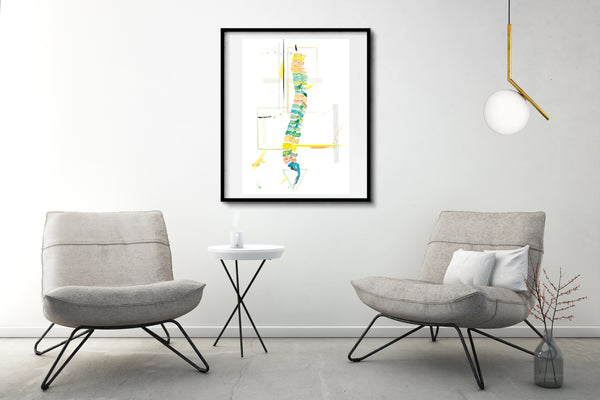 spine anatomy abstract art print
