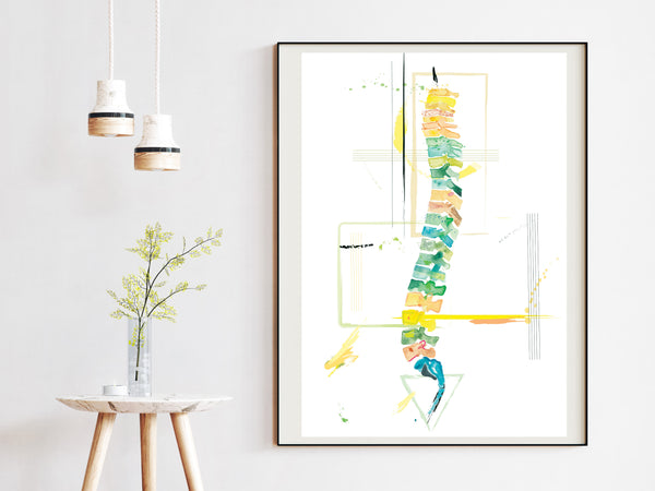 physical therapy anatomy art wall decor