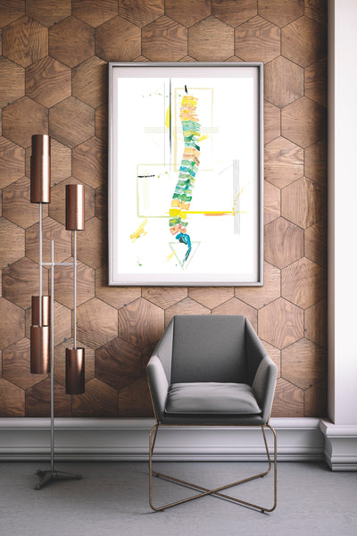 chiropractic anatomy wall decor