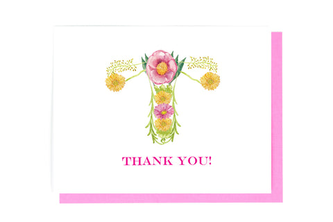 uterus thank you card