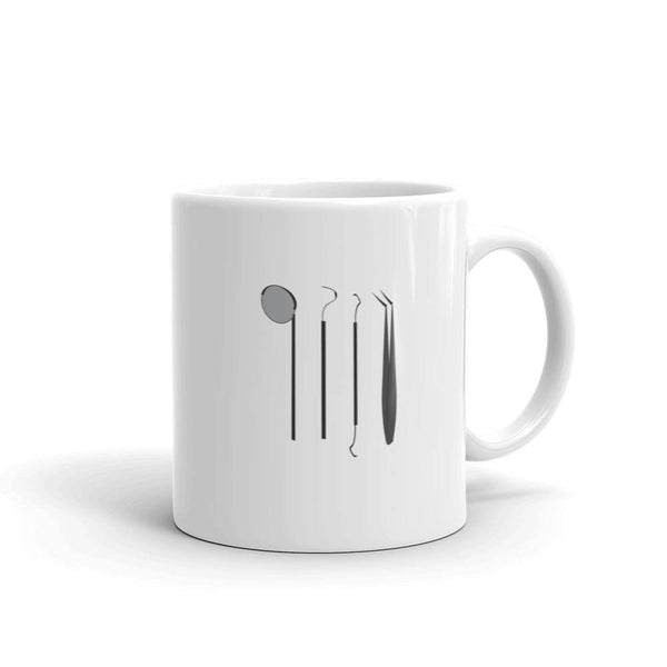 dental instruments mug