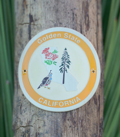 Golden State California - Hiking Staff Medallion