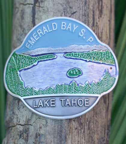 Emerald Bay - Hiking Staff Medallion