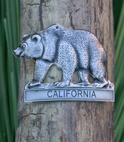 California Bear - Hiking Staff Medallion