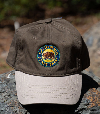 CA State Park Cap - color: Olive/Stone