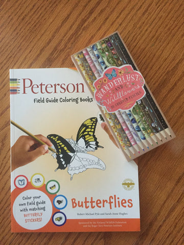 Peterson Field Guide Coloring Book with Wanderlust Color Pencils - Free Shipping! (On this item Only)