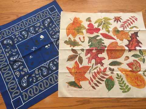 Bandanna's - Set of 2 - Leaves & Animal Prints