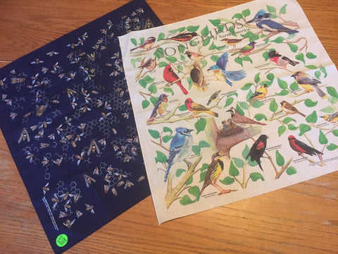 Bandanna's - Set of 2 - The Birds & The Bees - Free Shipping! (On this Item Only)
