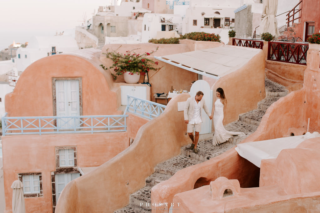 Santorini bridal photoshoot