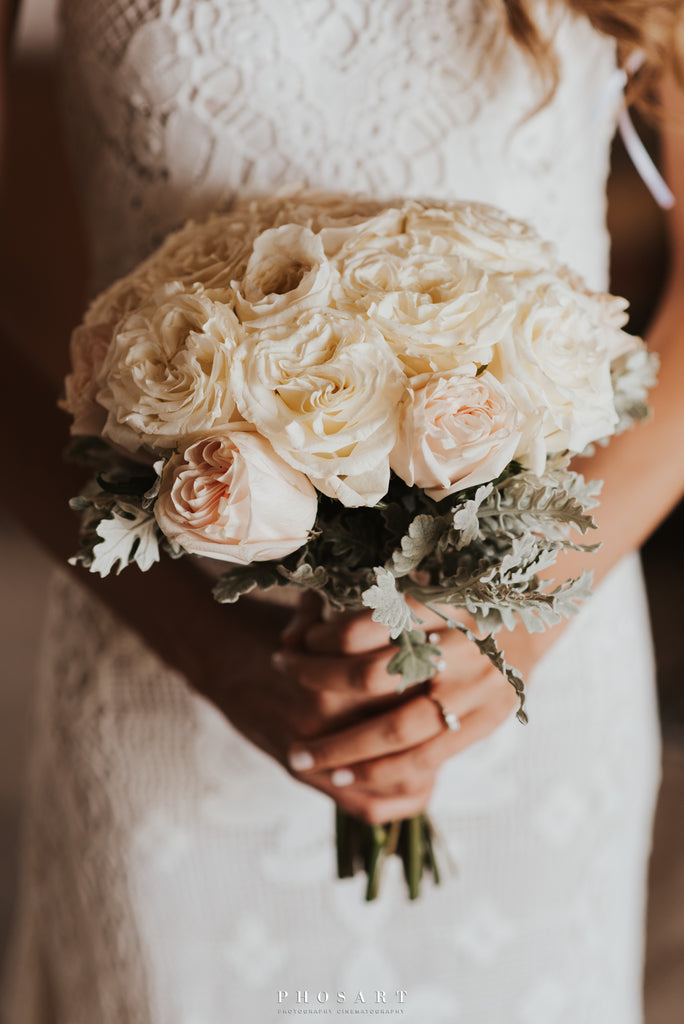 blush rose bridal bouquet