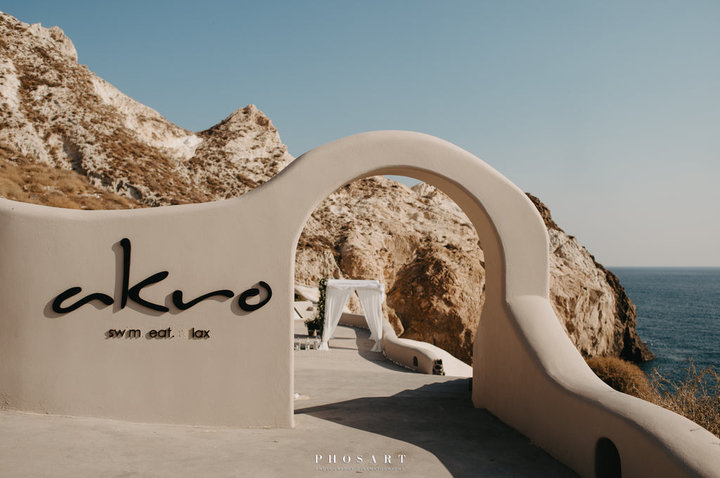Akro Restaurant by the Sea Santorini Greece