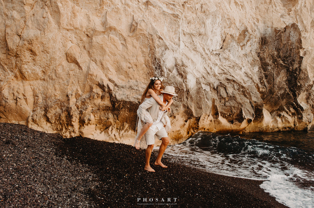 beach wedding couple in love