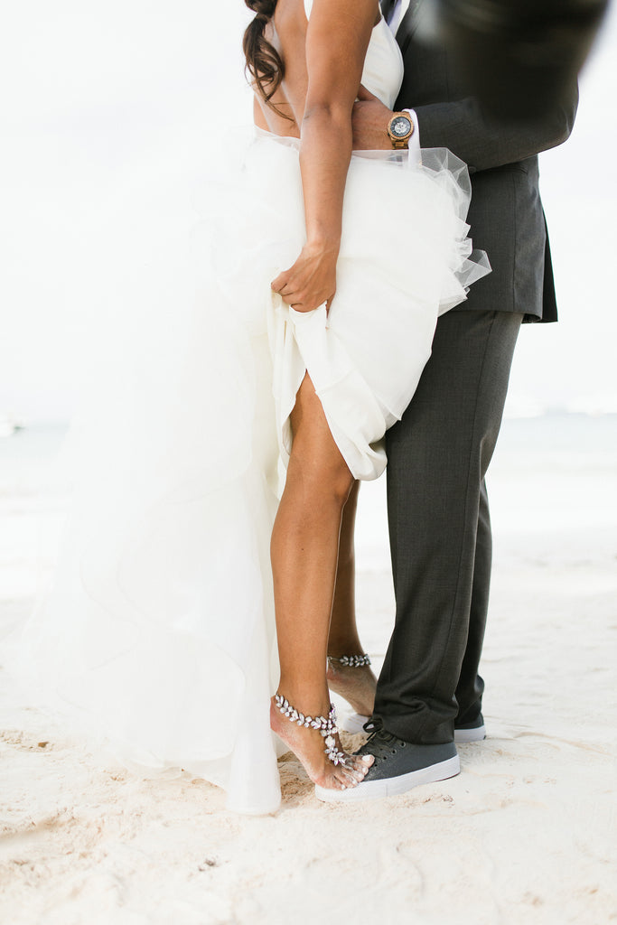 barefoot sandals for beach wedding