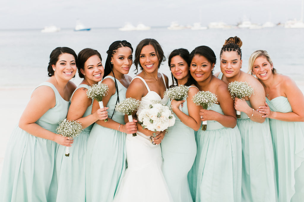 mint color bridesmaid dresses