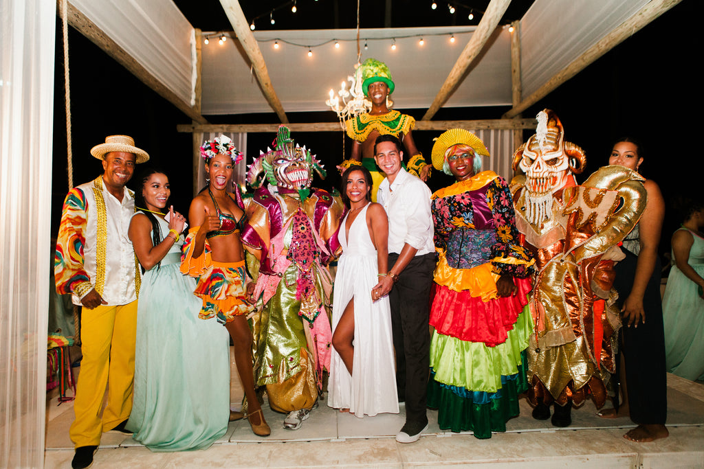 Latino themed beach wedding celebration