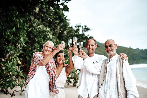 Barefoot beach wedding - seychelles