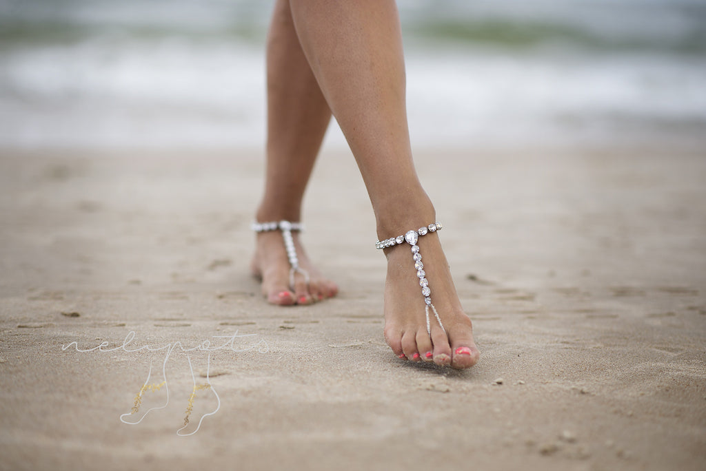 Shop our beach Barefoot Sandals and sole less shoes! Perfect for Beach weddings. Find unique barefoot sandals for your wedding or honeymoon