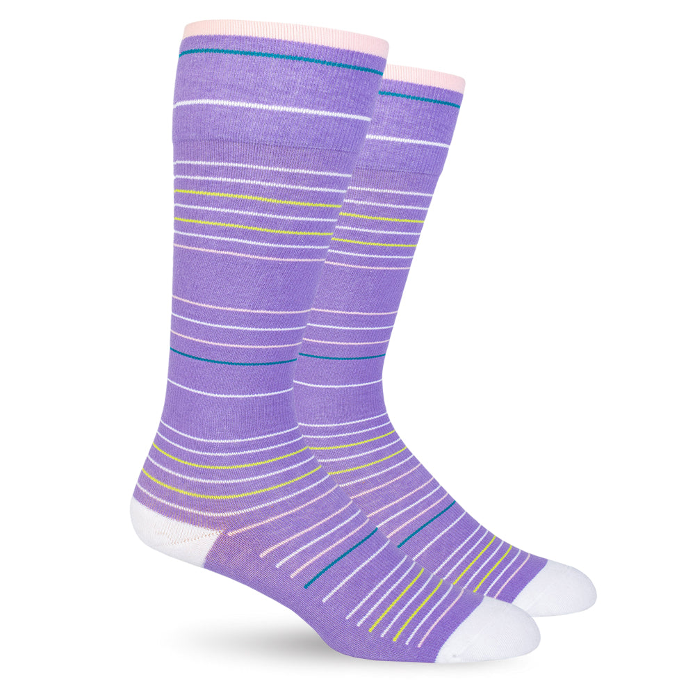 Purple Stripes Cotton Energy Socks