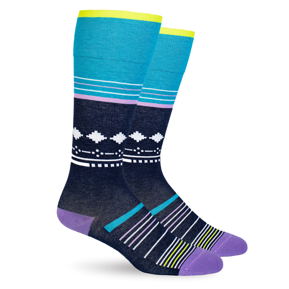 Blue Stars Cotton Energy Socks