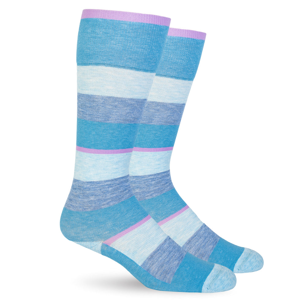Spring Compression Socks - Sky Blue Stripes