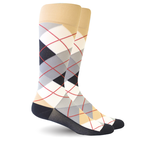 Argyle Beige/White - Women's Medical
